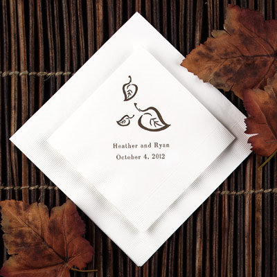 simple wedding napkins decorations