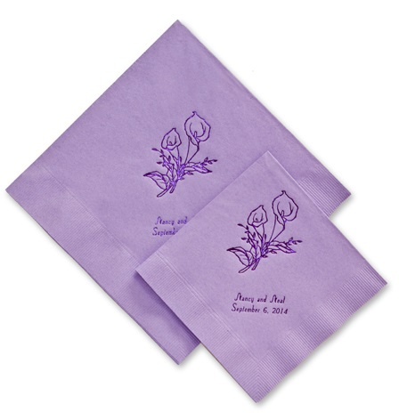 printed wedding napkins personalized wedding supplies favors